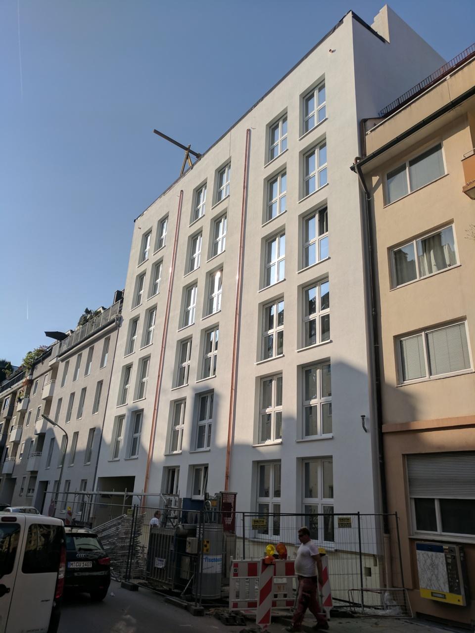Neue Fassade Studentenwohnheim Emanuelstrasse
